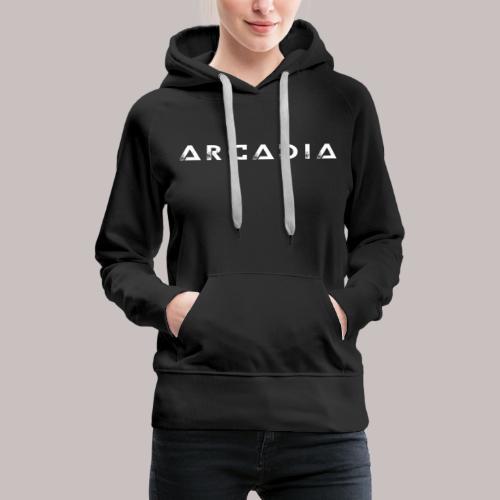 T-Shirt Arcadia Femme - Sweat-shirt à capuche Premium pour femmes