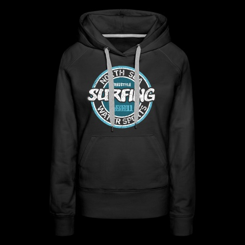 North Sea Surfing (oldstyle) - Frauen Premium Hoodie