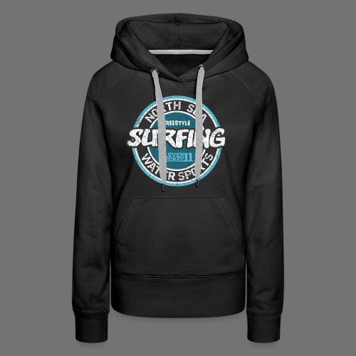 North Sea Surfing (oldstyle) - Women's Premium Hoodie