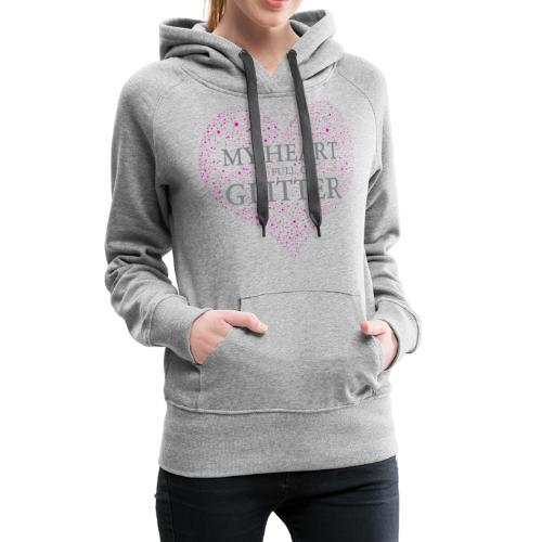Glitzer Herz - Frauen Premium Hoodie