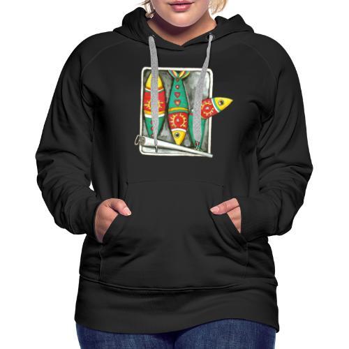 Les sardines du Portugal - Sweat-shirt à capuche Premium pour femmes