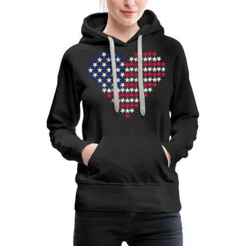 Herz Flagge USA - Frauen Premium Hoodie