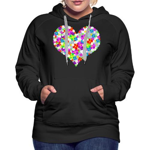 Blumenherz - Frauen Premium Hoodie