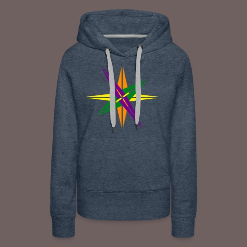 GBIGBO zjebeezjeboo - Love - Couleur d'étoile brillante - Sweat-shirt à capuche Premium pour femmes