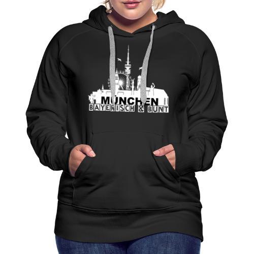 MUENCHEN BAYERISCH BUNT (LOGO WS) - Frauen Premium Hoodie
