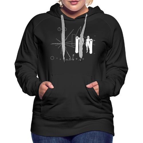 Snowboard Pioneer Plaque - Sweat-shirt à capuche Premium pour femmes