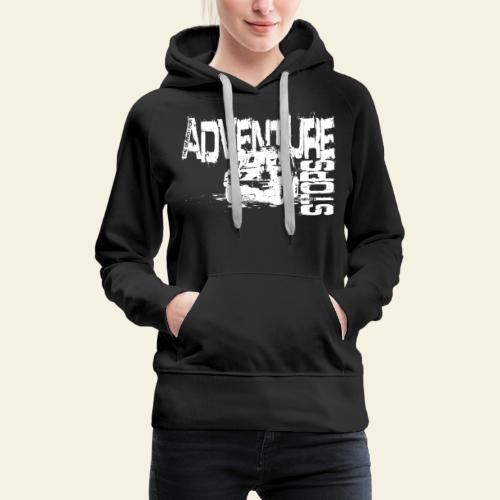 Adventure white - Dame Premium hættetrøje