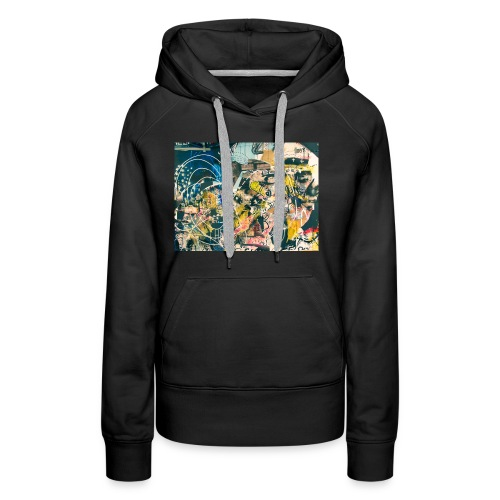 art graffiti abstract vintage - Sudadera con capucha premium para mujer