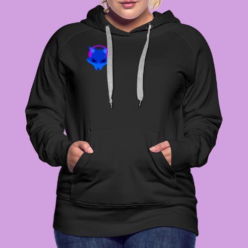 Lighty Logo - Felpa con cappuccio premium da donna
