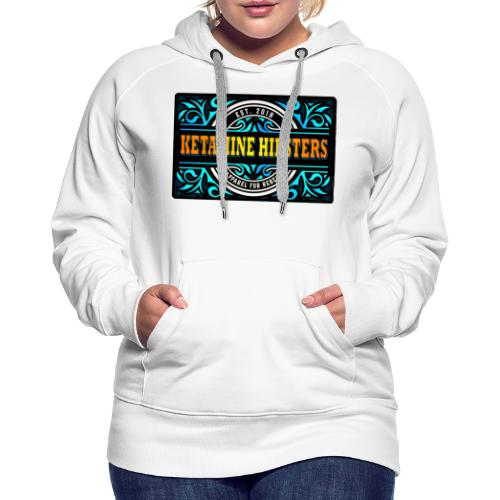 Black Vintage - KETAMINE HIPSTERS Apparel - Women's Premium Hoodie