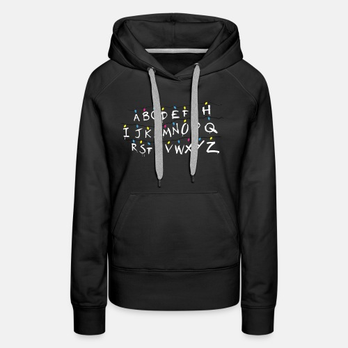Stranger Things Alphabet - Women's Premium Hoodie