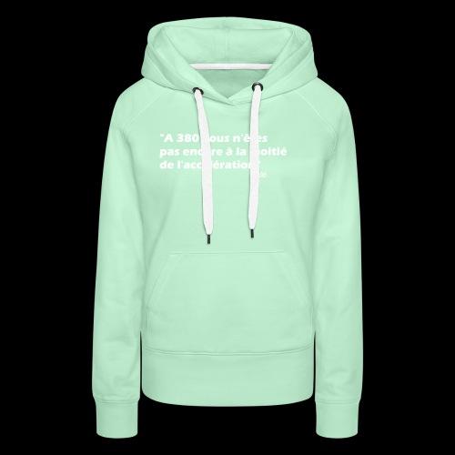 380 (blanc) - Sweat-shirt à capuche Premium pour femmes