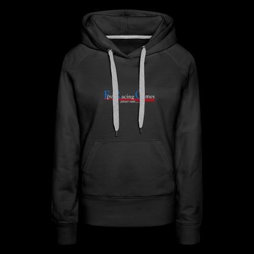 FPV Racing Games nom et logo - Sweat-shirt à capuche Premium pour femmes