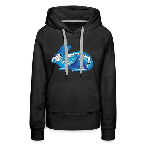 Le lapin bleu - Sweat-shirt à capuche Premium pour femmes