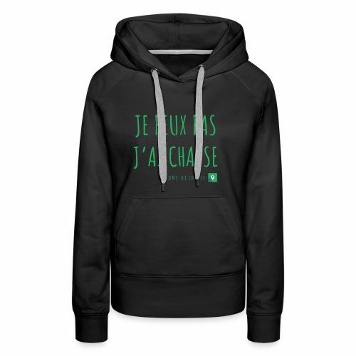 Chasseur et fier. - Sweat-shirt à capuche Premium pour femmes