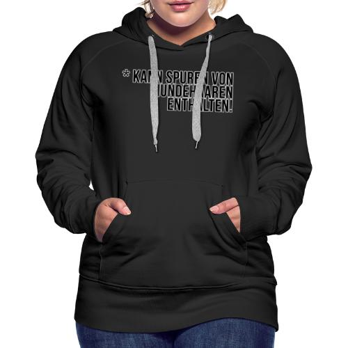 Hundehaar Spuren - Frauen Premium Hoodie