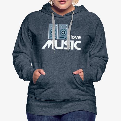Amo la música 02 - Sudadera con capucha premium para mujer