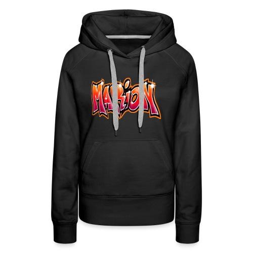 Graffiti Tag prenom name MARION - Sweat-shirt à capuche Premium pour femmes