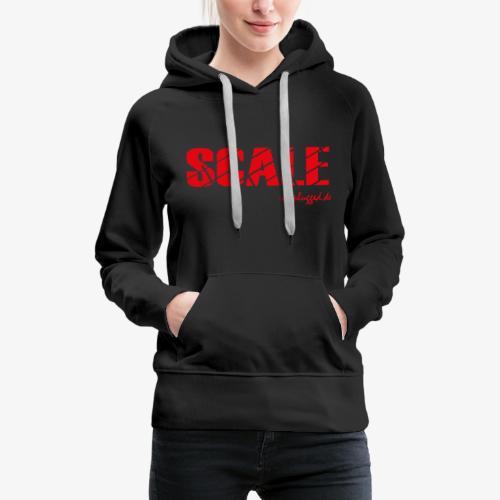 SCALE Logo rot - Frauen Premium Hoodie