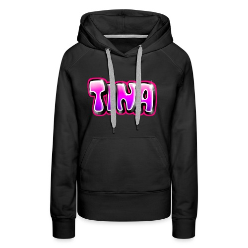 GRAFFITI TAG TINA PRINTABLE ON EVERYTHING PINK - Sweat-shirt à capuche Premium pour femmes