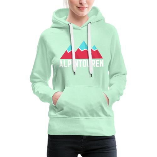 Alpintouren Logo - Frauen Premium Hoodie