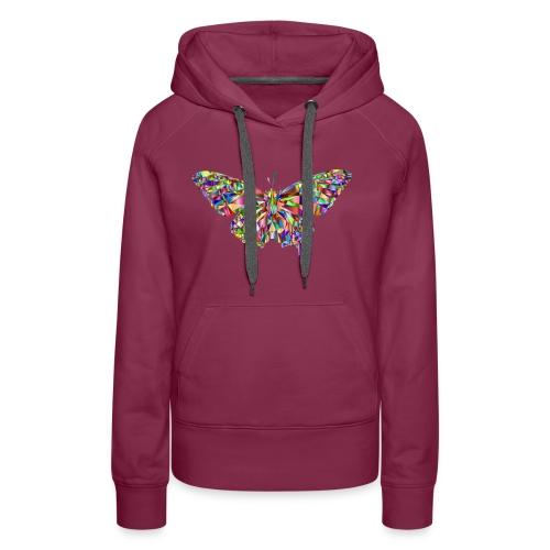 Geflogener Schmetterling - Frauen Premium Hoodie