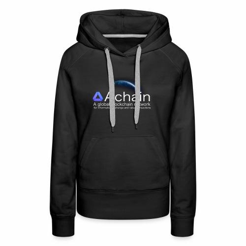 Achain, planet Earth - Felpa con cappuccio premium da donna