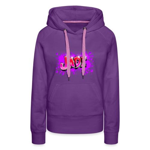 JADE Graffiti Name with splash of color - Sweat-shirt à capuche Premium pour femmes