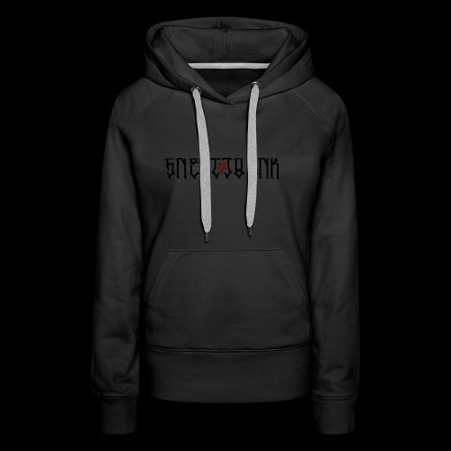 BLACK SNERTJOENK RED PENTAGRAM - Women's Premium Hoodie