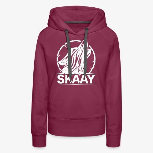 Skaay Logo Schwarz GeniyArts Vektor - Frauen Premium Hoodie