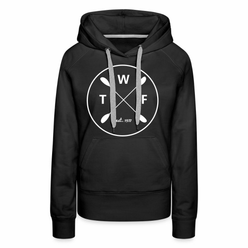 Weisses Logo gross - Frauen Premium Hoodie