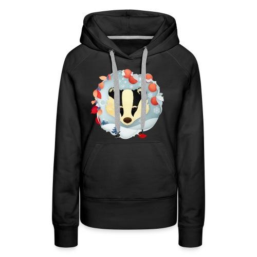 Christmas Badger - Women's Premium Hoodie
