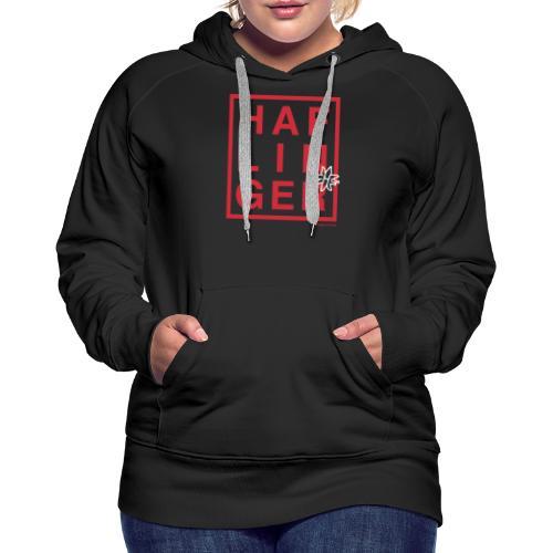 Haflinger Schriftzug / Pferd - Frauen Premium Hoodie
