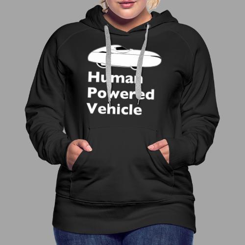 Quest Human Powered Vehicle 2 white - Naisten premium-huppari