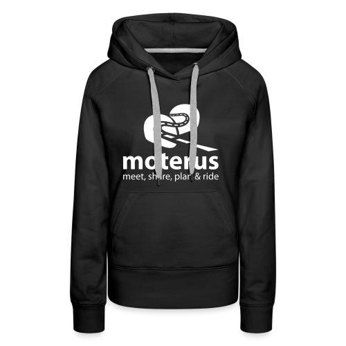 Moterus Vertical - Sudadera con capucha premium para mujer
