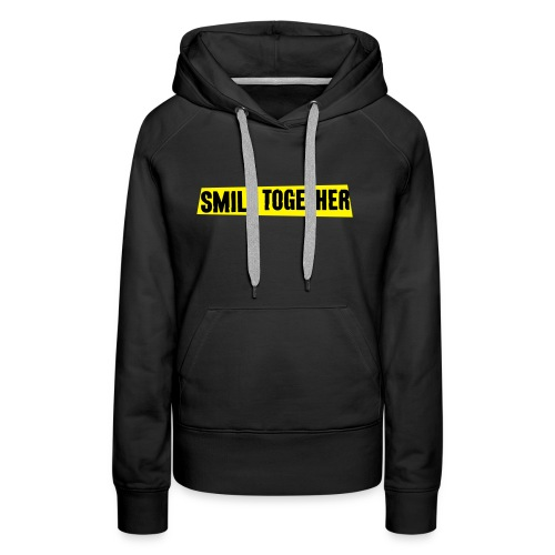 Smile Together Black Yellow - Women's Premium Hoodie
