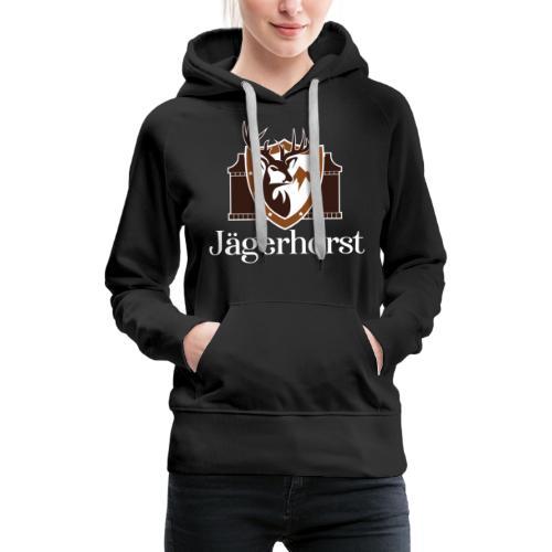 Jägerhorst Logo Weiss - Frauen Premium Hoodie