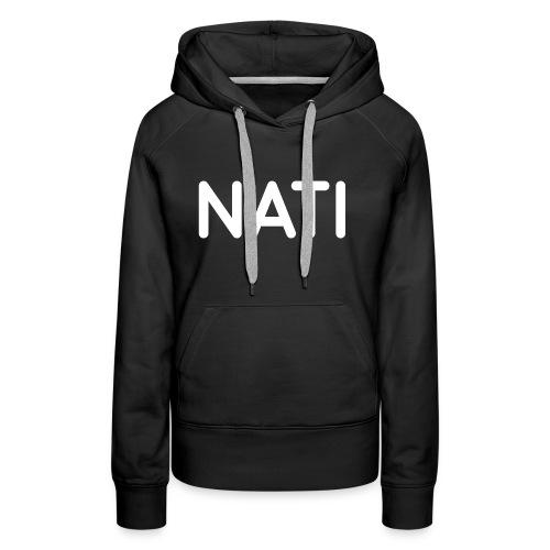 NATI Original - Hvid - Dame Premium hættetrøje