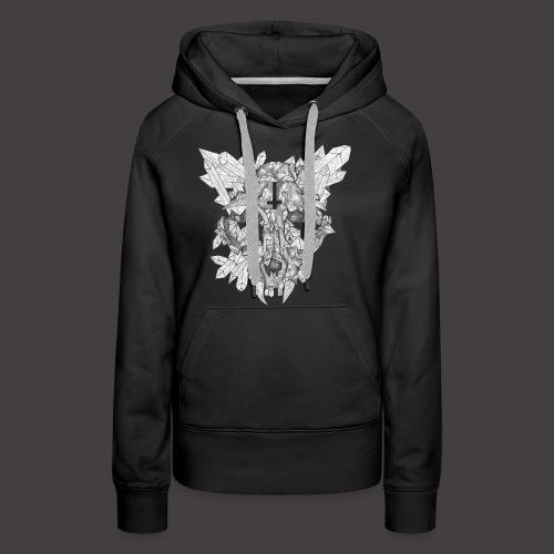 Le Chat de Cristal - Sweat-shirt à capuche Premium pour femmes