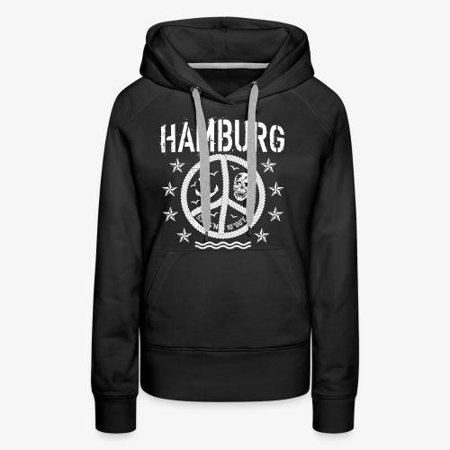 105 Hamburg Peace Anker Seil Koordinaten - Frauen Premium Hoodie