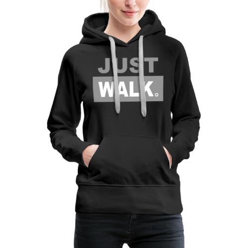 JUST WALK vrouw grijs ls - Vrouwen Premium hoodie