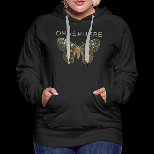 OMASPHERE-logo-transparen - Sweat-shirt à capuche Premium pour femmes