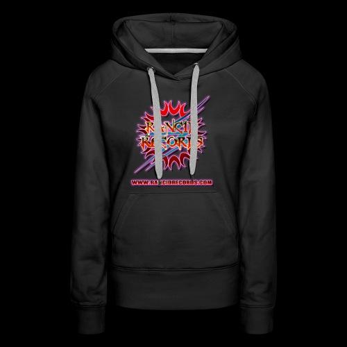 Records Logo Transparent with website pink glow - Women's Premium Hoodie
