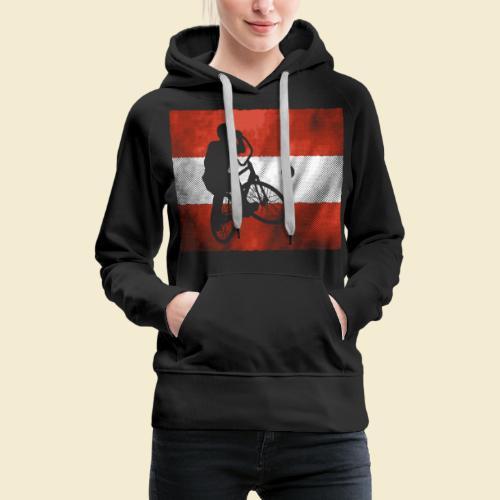 Radball   Flagge Österreich - Frauen Premium Hoodie