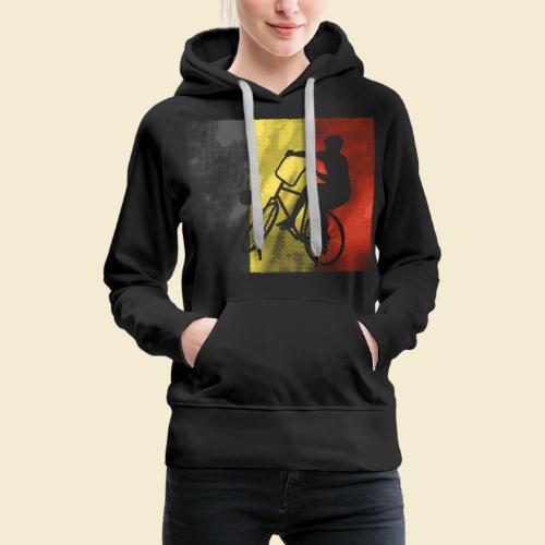 Radball   Flagge Belgien - Frauen Premium Hoodie