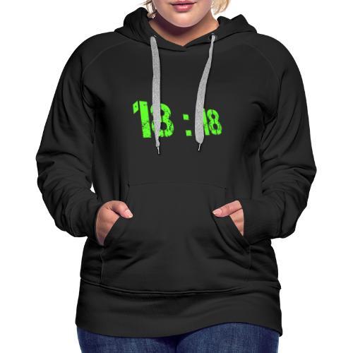 18:18 Green - Sweat-shirt à capuche Premium pour femmes