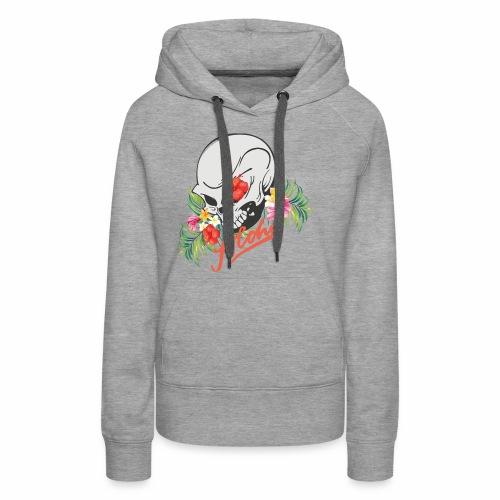 Hawaiian Skull Aloha Surfer Design - Frauen Premium Hoodie