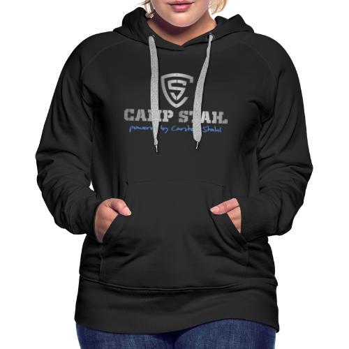 Camp_Stahl_Logo_Schrift_-_Wappen_mittig - Frauen Premium Hoodie