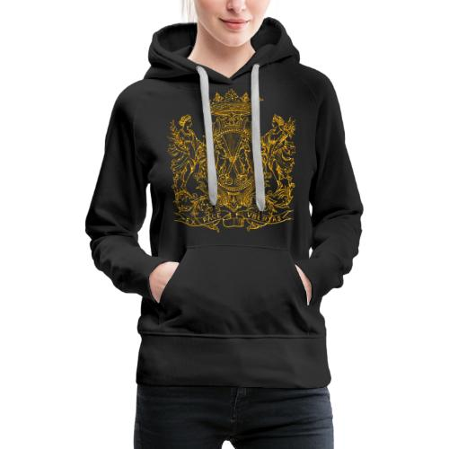 Peace and prosperity coat of arms - Sudadera con capucha premium para mujer