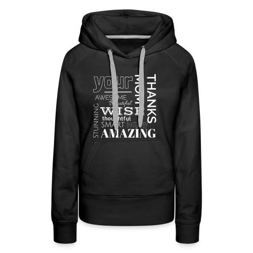 Amazing clothes - Sudadera con capucha premium para mujer